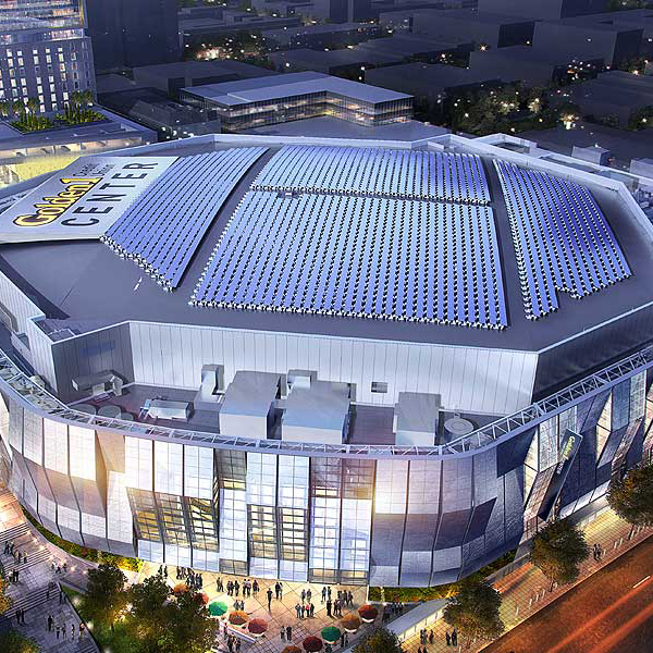 Aerial view of Golden 1 Center