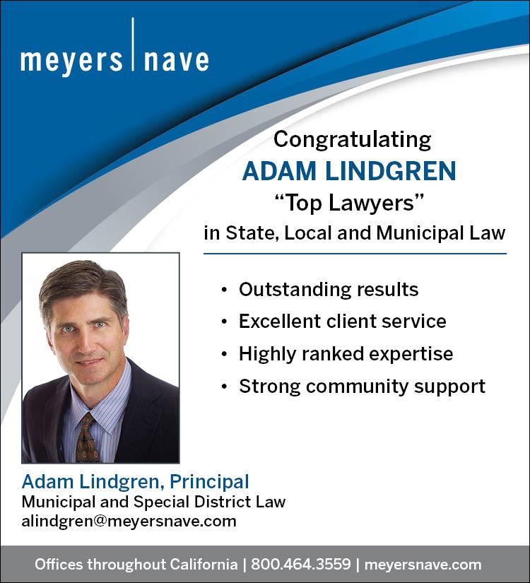 Sacramento Top Lawyers Congratulatory Ad for Adam Lindgren