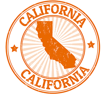 State of California Symbol in Gold